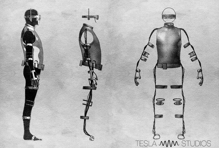 tesla suit, virtual reality, oculus rift