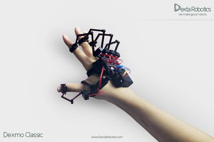 dexmo, force feedback, glove, handschuh, virtual reality