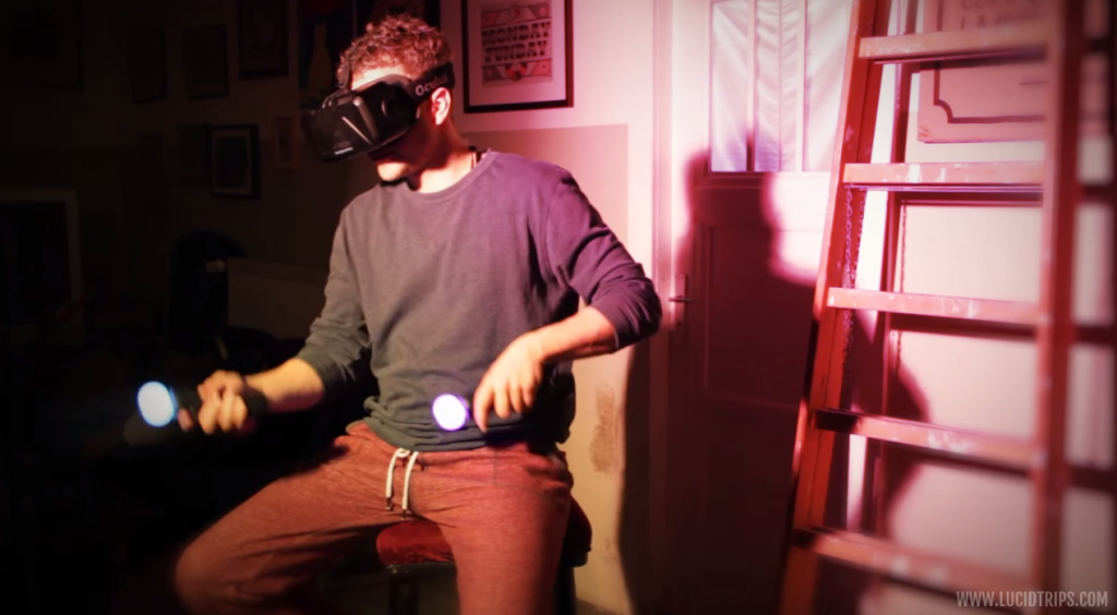 oculus rift sitting position, playstation move, virtual reality