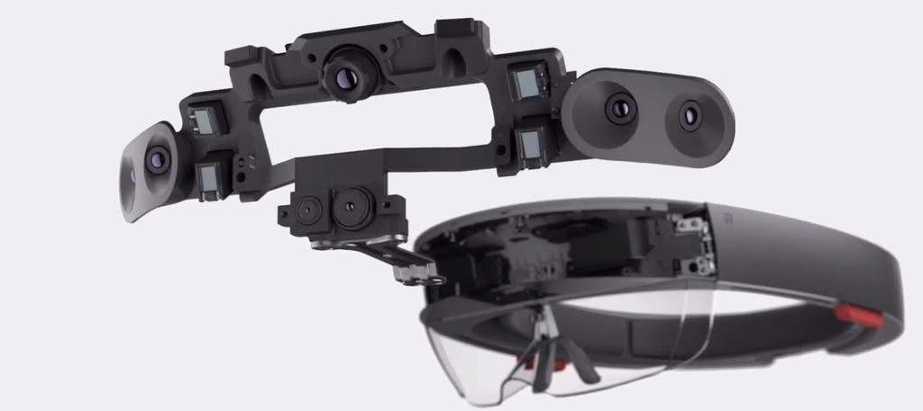 AR-Brille HoloLense von Microsft Sensoren