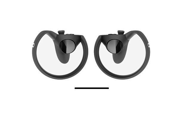 Trauriges Oculus Touch Gesicht