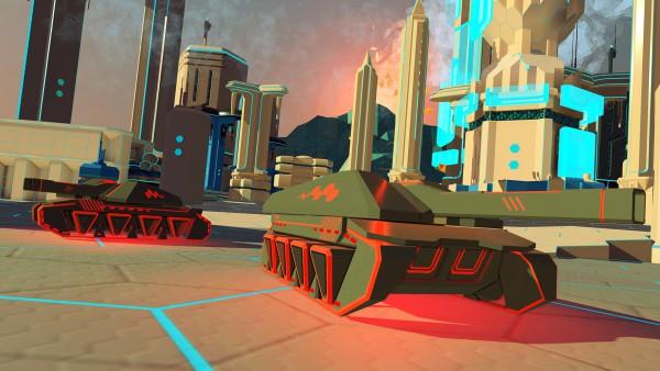 Panzer Spiel in Tron Optik für PlayStation VR