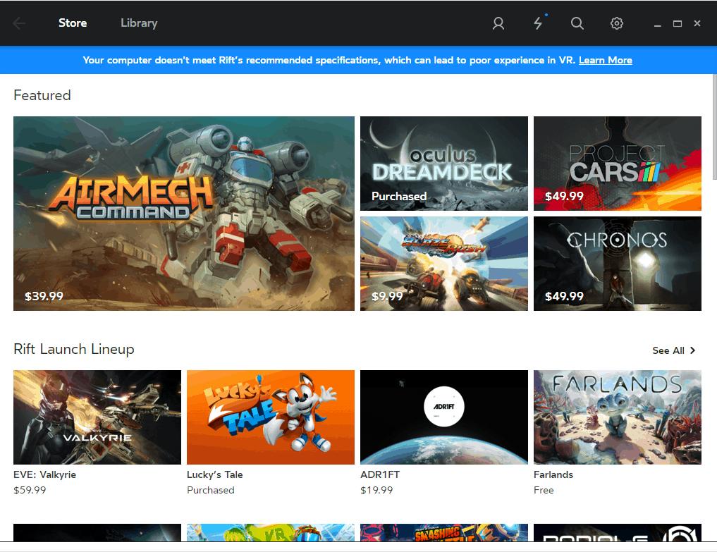 Oculus Home und Rift Spiele mit dem DK 2 der Oculus Rift