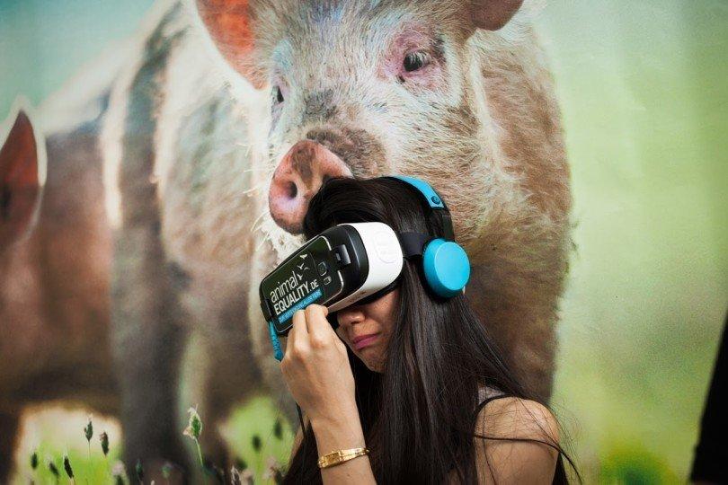 Tierschutz iAnimal mit VR-Brille