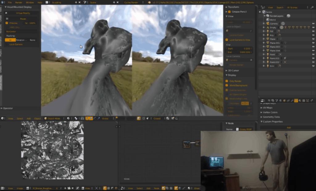 Blender mit VR Support in Entwicklung