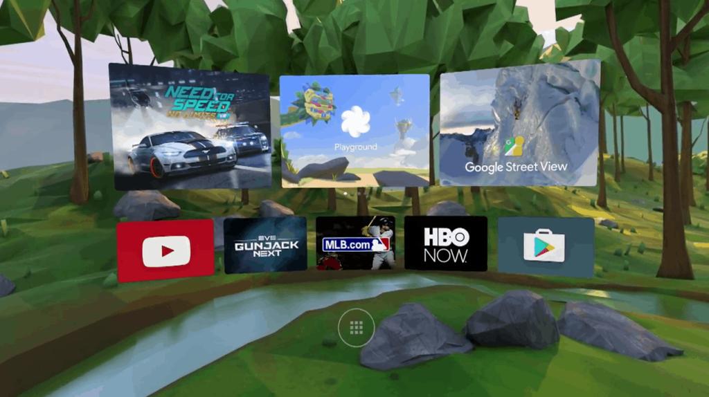 Google VR Kachelmenü