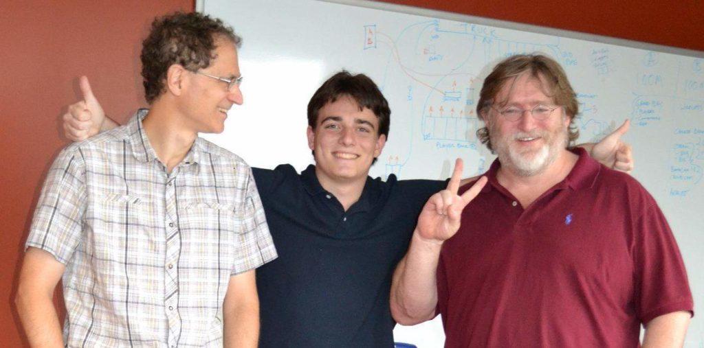 Palmer Luckey mit Abrash und Newell