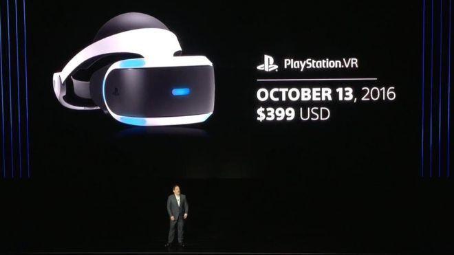 PlayStation VR Brille Release 13. Oktober 2016