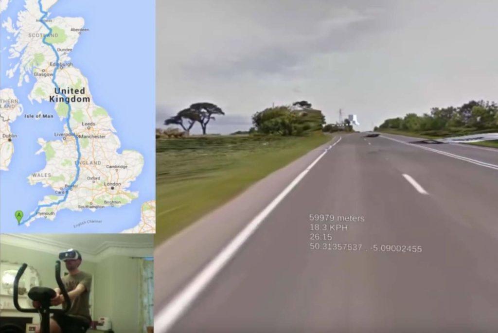 Einmal durch ganz Britannien mit der Gear VR radeln