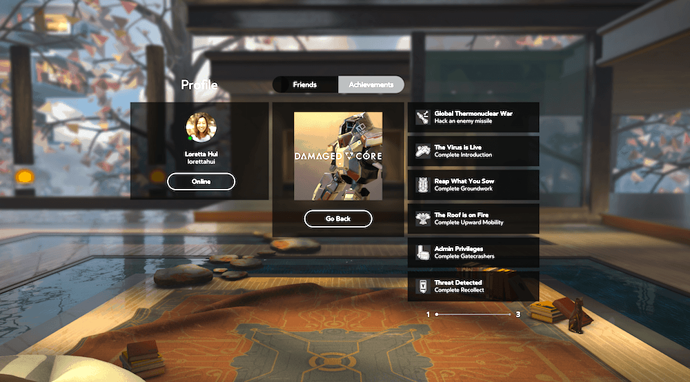 Achievements für Gear VR und Oculus Rift