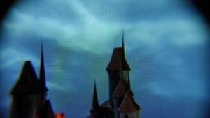 Daydream View Blick durch die Linsen