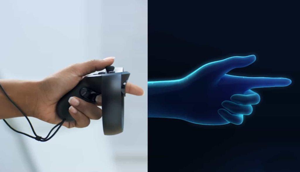 Finger mit Oculus Controller