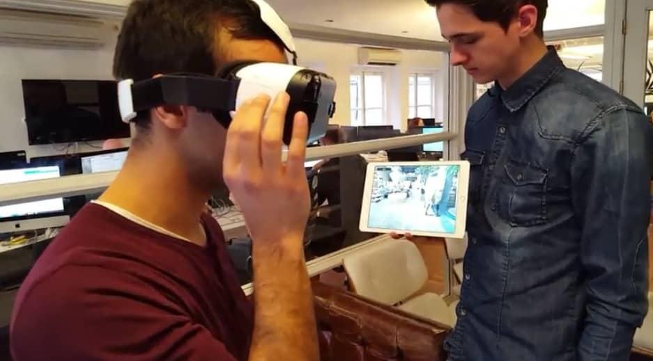 Gear VR Content auf Tablet spiegeln