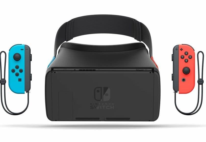 so k nnte eine virtual reality brille f r die nintendo switch aussehen vr nerds. Black Bedroom Furniture Sets. Home Design Ideas