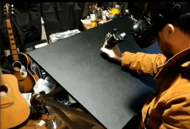 Drucksensitiver Stylus für Virtual Reality