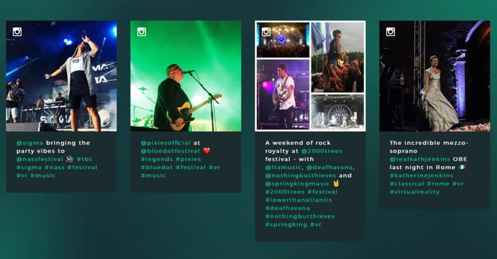 MelodyVR bei Liveacts und auf Festivals und Konzerten