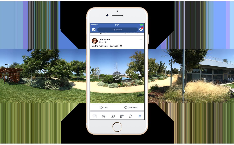 Neue Facebook-App ermöglicht Aufnahme von 360-Grad-Fotos