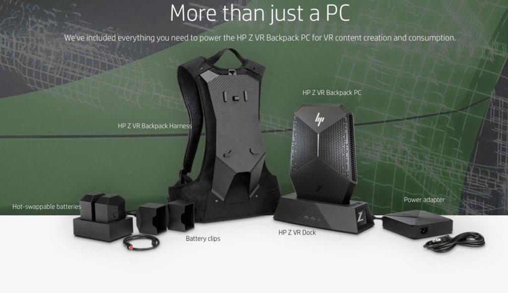 HP Z VR Rucksack-PC