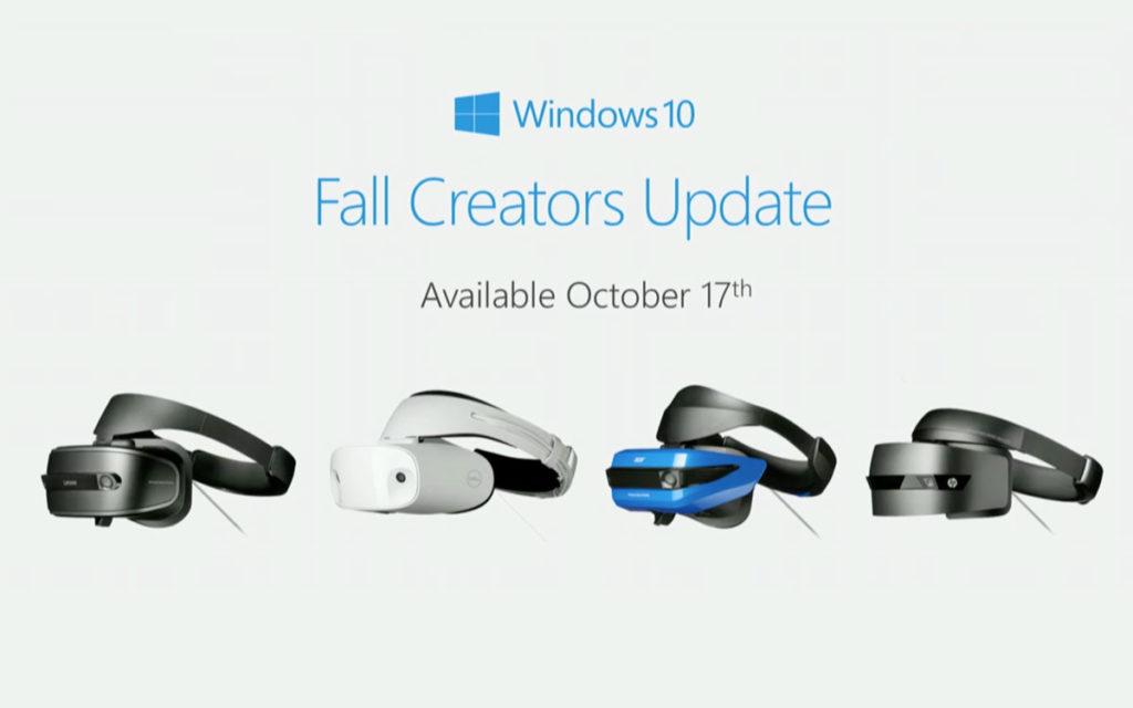 Windows Mixed Reality Fall Creators Update