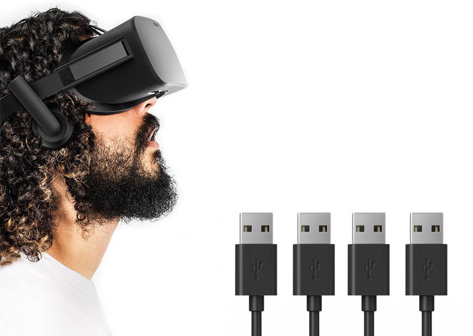 USB-Ports für Oculus Rift