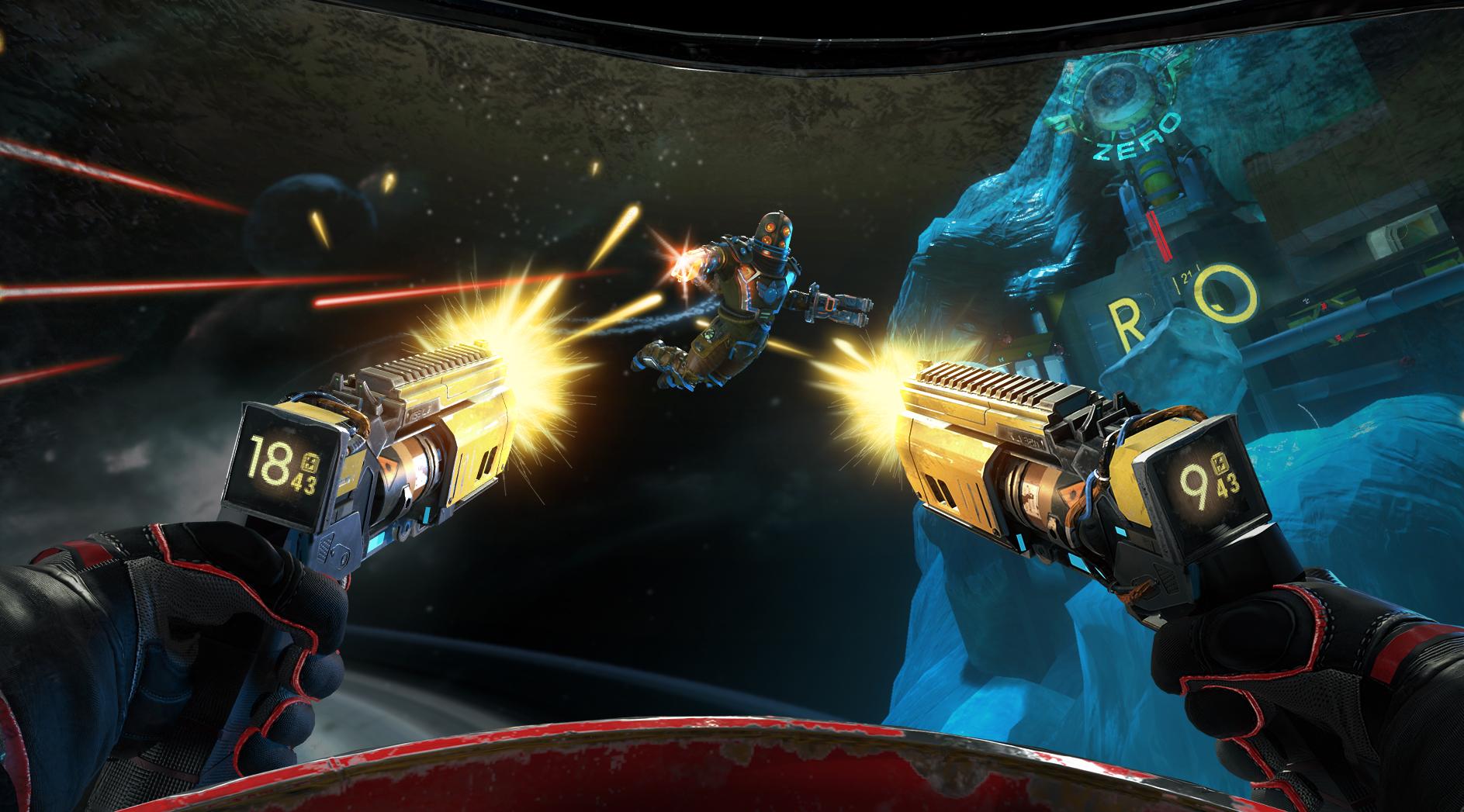 Laser Shooter im Weltraum