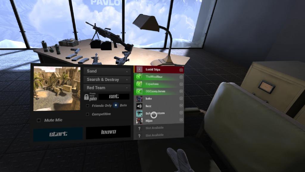 Pavlov VR Menü