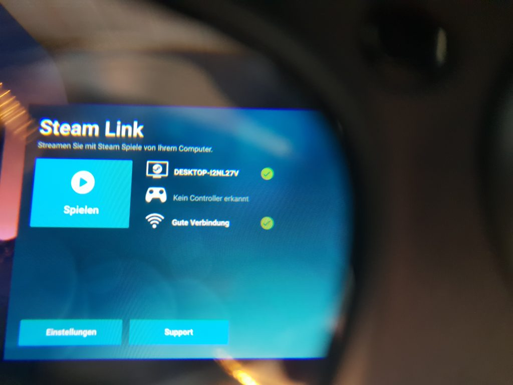 Steam Link in Oculus Go