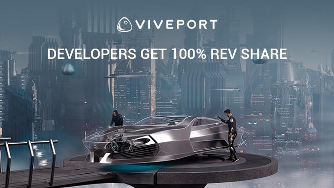 100% der Einnahmen eines Spiels Viveport