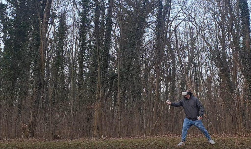 Virtual Reality im Park