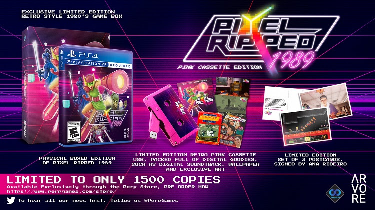 Pixel Ripped 1989 Limited Pink Cassette Edition