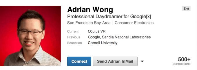 adrian wong, google glass, google, oculus rift, oculus vr