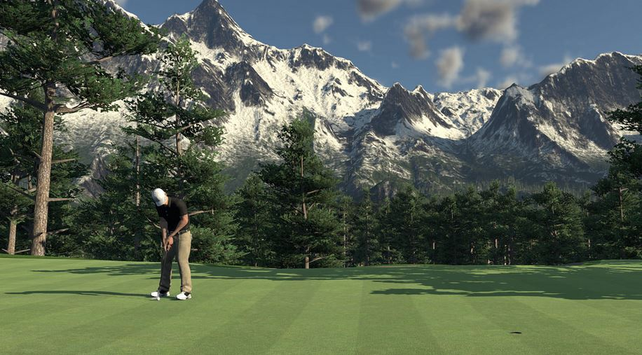 the golf club, virtual reality, project morpheus, ps4,