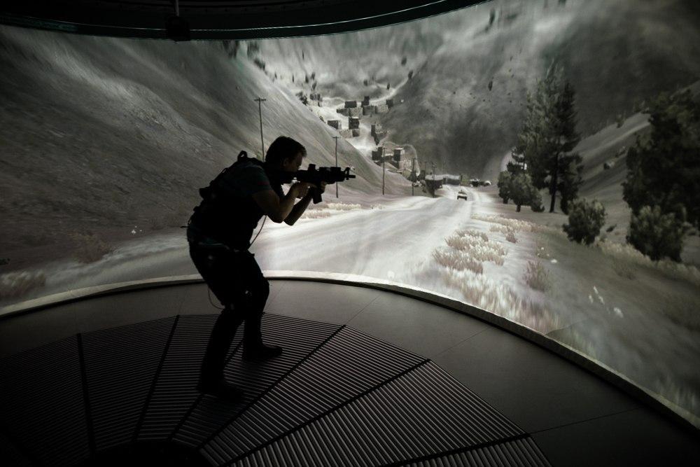 Omnideck 6, omnifinity, omnidirectional treadmill, oculus rift