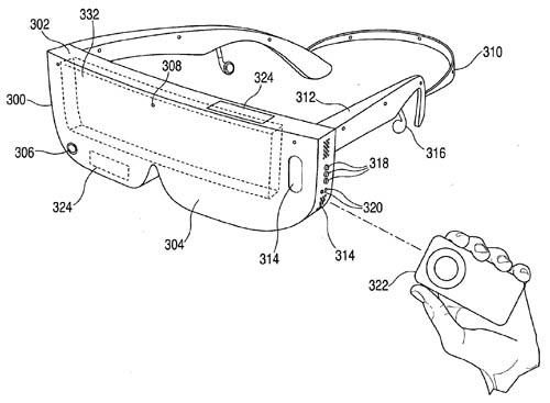Apple VR-Brille, Patent, Zeichnung