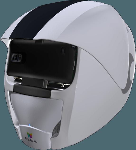 VR Helm für Geruch in Verbindung mit Virtual Reality Headset