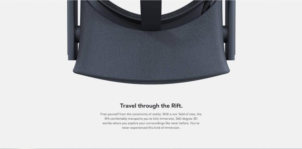 Oculus Rift Top View