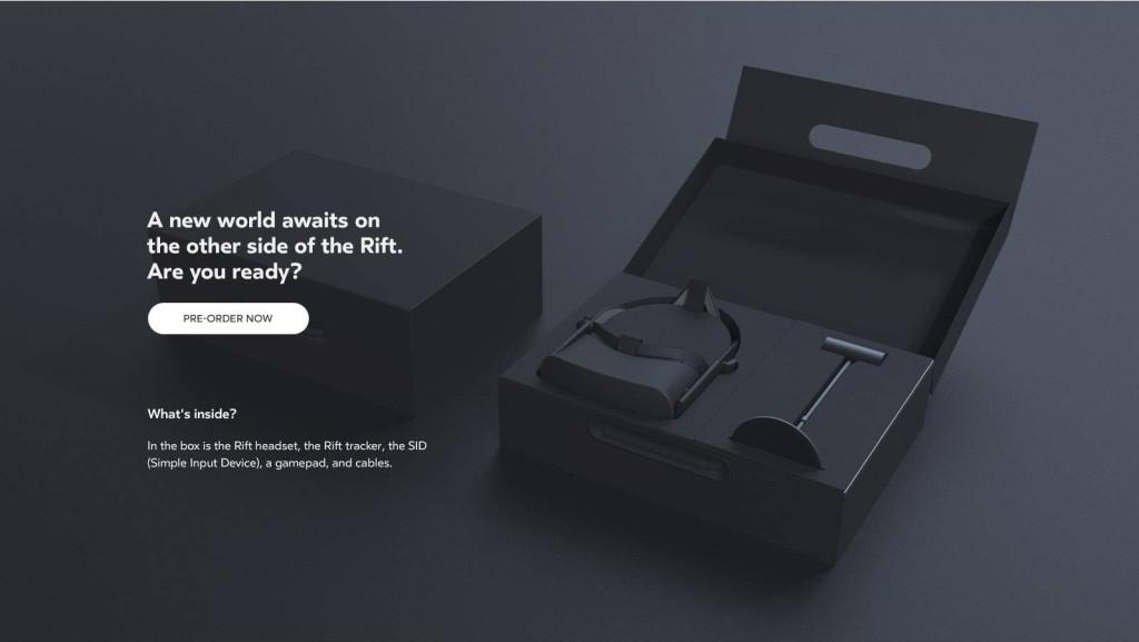 Oculus Pre Order Button