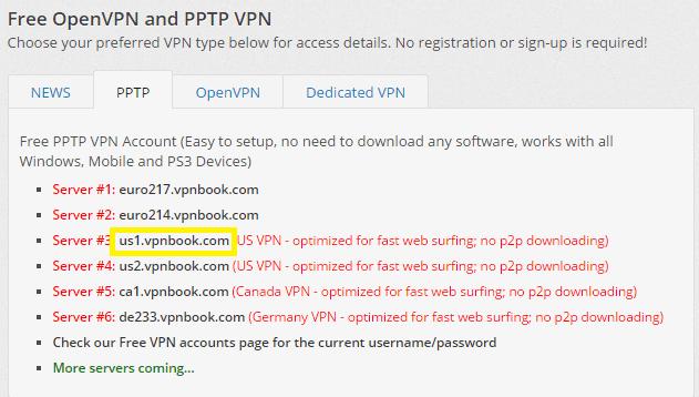 Einen gratis VPN Zugang mit dem Smartphone einrichten. Für mein Beispiel habe ich mal die Seite vpnbook.com aufgerufen und mir die Serverdaten von einem US Server kopiert. In meinem Fall war dies:us1.vpnbook.com