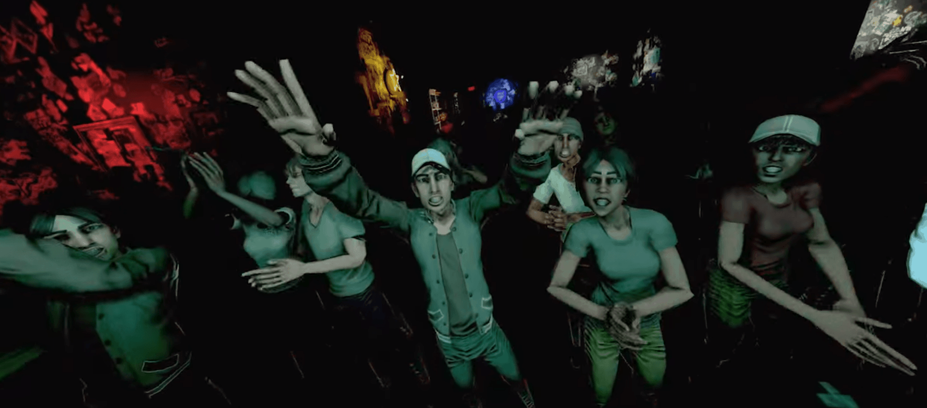 Rock Band VR Publikum aus dem Video von Oculus