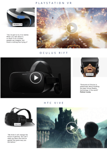 Amazons Virtual Reality Bereich