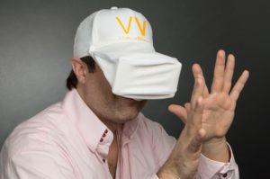 VirtualVizor bei geschlossener Verwendung durch den Hersteller