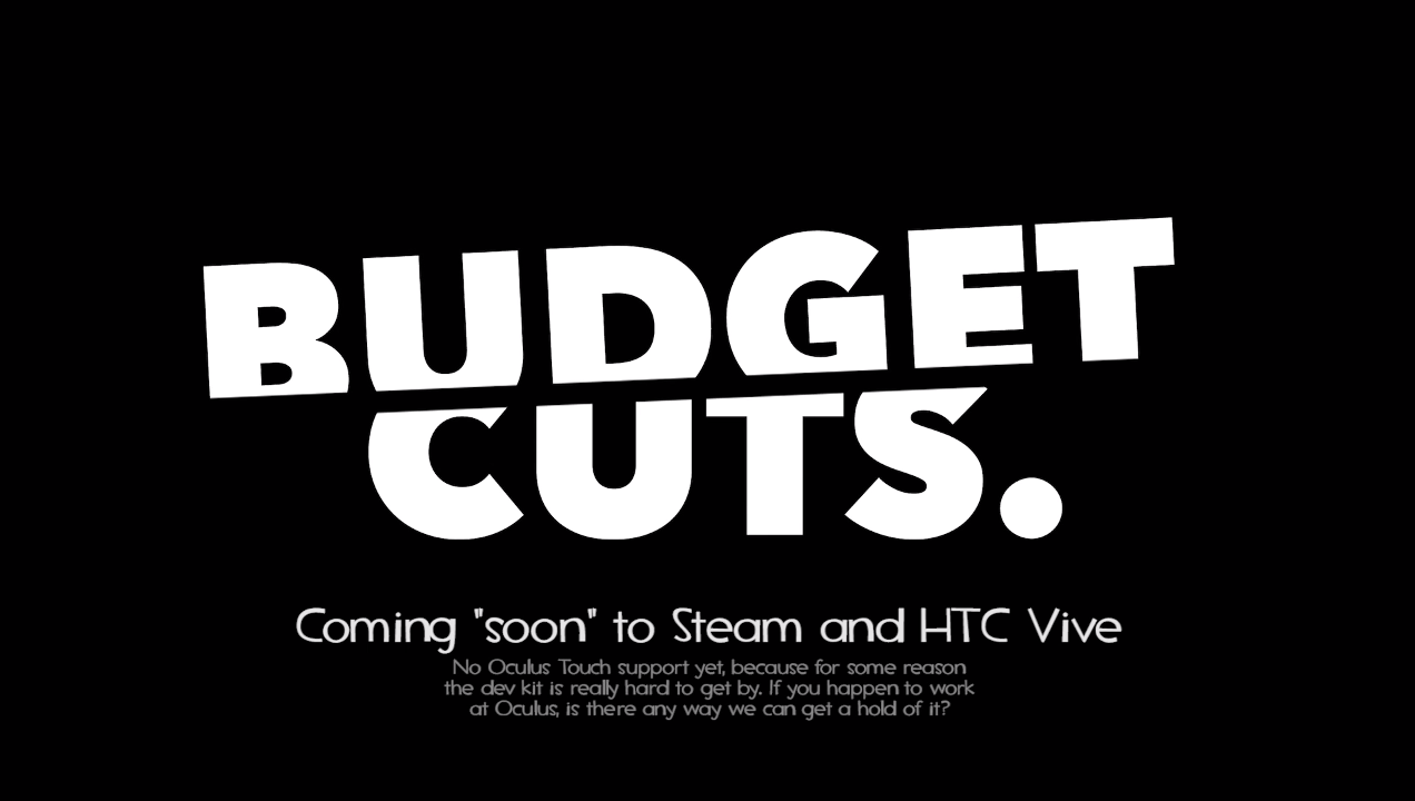 Rift support für Budget Cuts ?