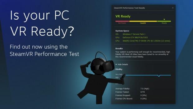 SteamVR Benchmark Test für VR-Brillen