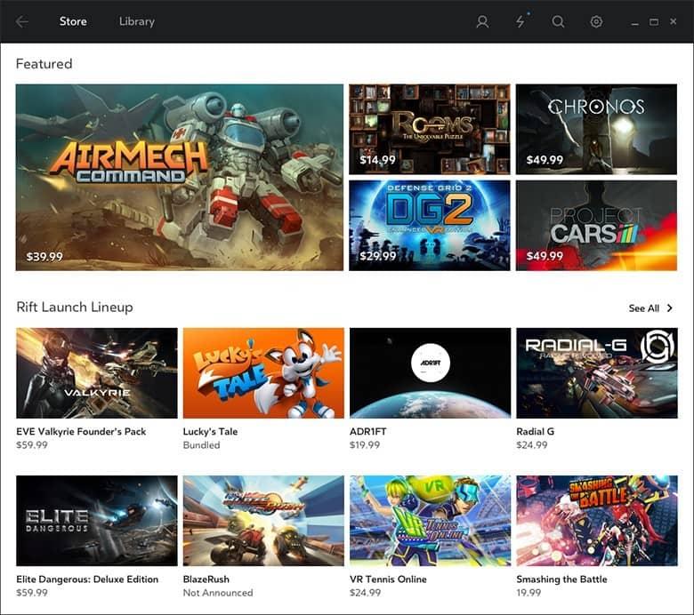 Oculus Home 2D Screenshot