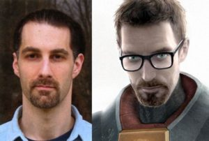 Kelly Bailey und Gordon Freeman