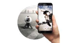 Gear 360 App und Kamera