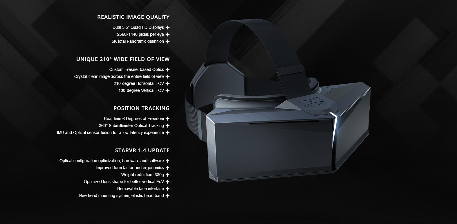 Neuer StarVR Prototyp - Spezifikationen