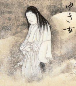 Was hat die Yuki-onna, die Schneefrau aus der japanische Legende mit dem Mord zu tun? Quelle: Sawaki Suushi
