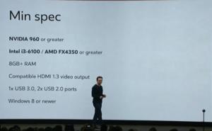 Oculus Rift Minimum Specs