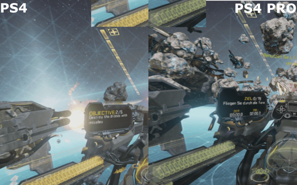 EVE: Valkyrie - PS4 vs. PS4 Pro